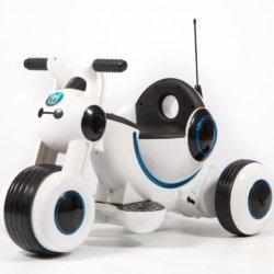 Детский электромотоцикл Y-MAXI YM77 белый (покраска глянец, музыка, световые эффекты, мягкие колеса EVA)